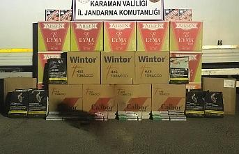 Karaman'da Kaçak Tütün ve Tıbbi Malzeme Ele...