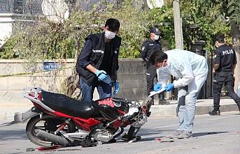Çarpmanın Şiddetiyle Motosikletin Yakıt Deposu...
