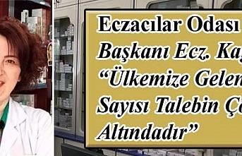 """Eczacılar Odası Başkanı Ecz. Kağnıcı """"Ülkemize..."""