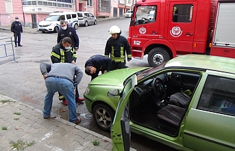 Gaz Kaçıran Otomobil Korkuya Neden Oldu