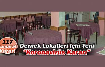 Karaman'da Dernek Lokalleri İçin Yeni Koronavirüs Kararı