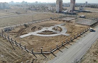 Örnek Projelerden Olan O Parkta Çalışmalar Devam Ediyor