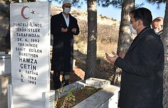 Şehit Öğretmen Hamza Çetin Mezarı Başında Dualarla...