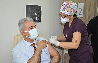 Karaman'da Aşı Çalışmaları Başladı