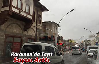 Karaman'da Taşıt Sayısı Arttı
