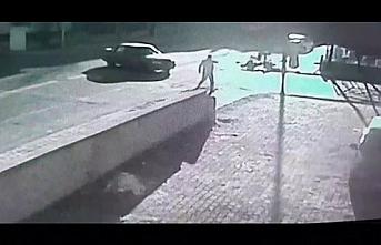 Karaman`daki Kaza Güvenlik Kamerasına Yansıdı