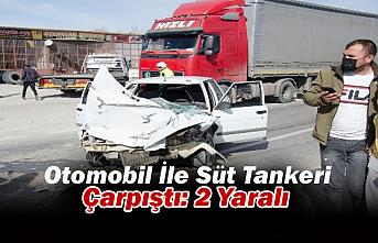 Ereğli'de Otomobil İle Süt Tankeri Çarpıştı: 2 Yaralı