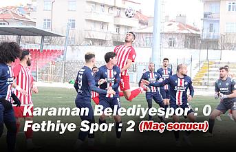 Karaman Belediyespor : 0 – Fethiye Spor : 2 (Maç...
