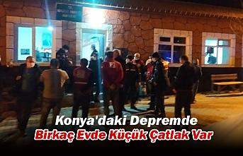 Konya'daki Depremde Birkaç Evde Küçük Çatlak Var