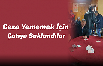 Konya'da Kısıtlamada Ceza Yememek İçin Çatıya Saklandılar