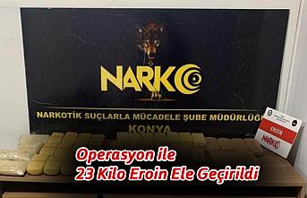 Operasyon ile 23 Kilo Eroin Ele Geçirildi