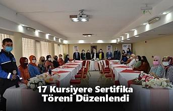 17 Kursiyere Sertifika Töreni Düzenlendi