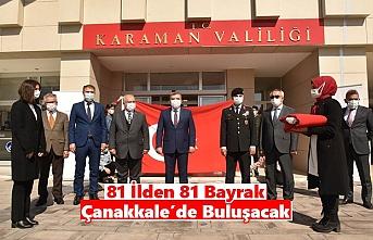 81 İlden 81 Bayrak Çanakkale'de Buluşacak