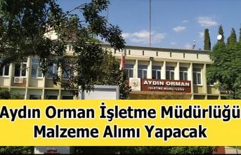 Aydın Orman İşletme Müdürlüğü Malzeme Alımı...