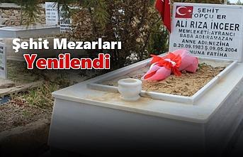 Ayrancı'da Şehit Mezarları Yenilendi