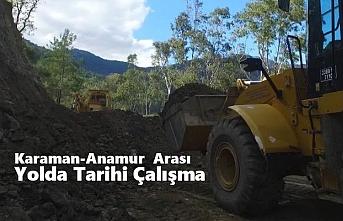 Karaman-Anamur Arası Yolda Tarihi Çalışma