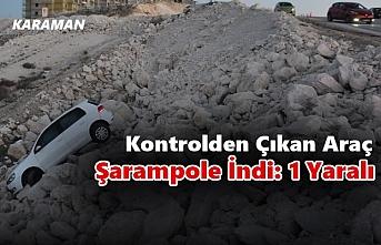 Karaman'da Kontrolden Çıkan Araç Şarampole İndi:...