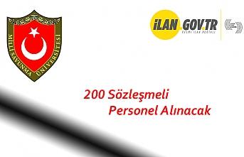 200 Sözleşmeli Personel Alınacak