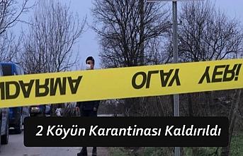 2 Köyün Karantinası Kaldırıldı