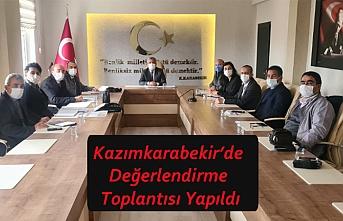 Kazımkarabekir'de Değerlendirme Toplantısı Yapıldı