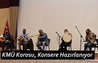 KMÜ Korosu, Konsere Hazırlanıyor