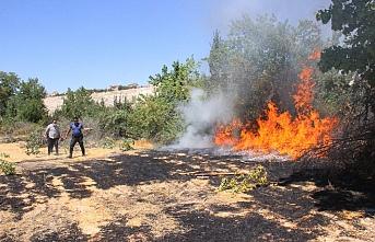 Karaman'da Anız Yangınına İlk Müdahale Polisten Geldi