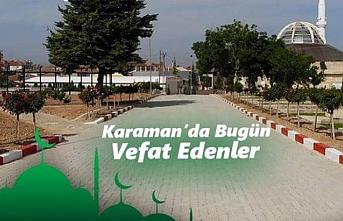 Karaman'da Bugün 3 Hemşerimizi Kaybettik
