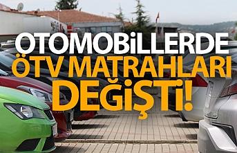 Binek Otomobillerde ÖTV Matrahları Değiştirildi