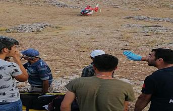 Dağda Yaralanan Çoban Hava Ambulansı İle Sevk...