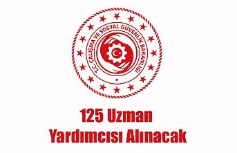 125 Uzman Yardımcısı Alınacak