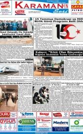 www.kgrt.net - 15.07.2019 Manşeti