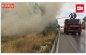 Boş Arazide Çıkan Yangın Korkulu Anlar Yaşattı