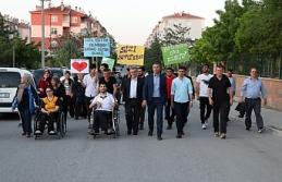 Engelli Bireylere Destek Yürüyüşü Düzenlendi