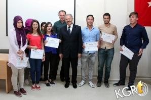 KMÜ'de Sertifika Töreni Düzenlendi