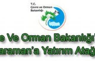 Çevre Ve Orman Bakanligi'ndan Karaman'a Yatirim...