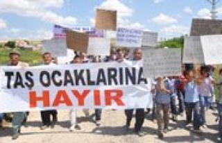 Dereköy Köylülerinden Tas Ocagi Eylemi