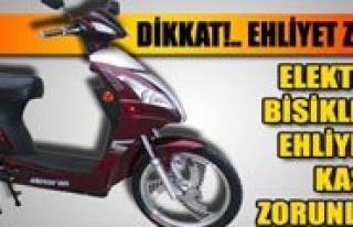 Elektrikli Bisikleti Ehliyetsiz Kullananlar Mahkemeye...