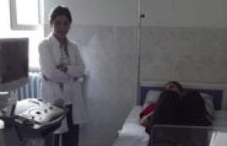 Sariveliler Ilçe Hastanesine Yeni Cihaz