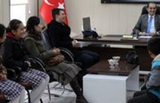Ayrancili Ögrencilerden Kaymakam Erat'a Ziyaret