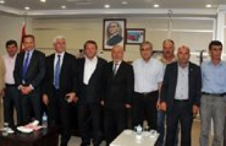 Karaman Heyeti, Mut Belediye Baskani Orhan'i Ziyaret...