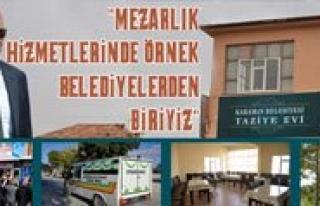 Çaliskan: Mezarlik Hizmetlerinde Örnek Belediyelerden...