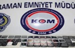 Karaman'da Gümrük Kaçagi 145 Cep Telefonu Ele...