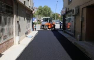 Asfalt Çalışmaları Abbas Mahallesi'nde