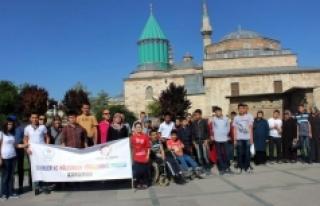 Engelli Öğrenciler Konya'nın Tarihi Yerlerini...
