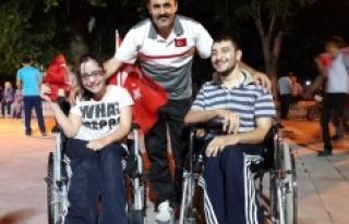 Bedensel Engelli Sporcular Demokrasi Nöbeti'nde