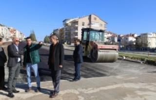 Karaman'da Asfaltlama Çalışmaları Sürüyor