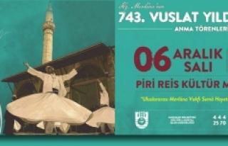 743. Vuslat Yıldönümü Törenleri Karaman'dan...