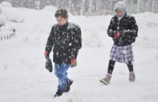 Yoğun Kar Yağışı Okulları Tatil Ettirdi