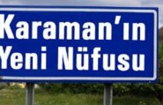 TUIK Verilerine Göre Karaman'in Nüfusu Binde 7,6...