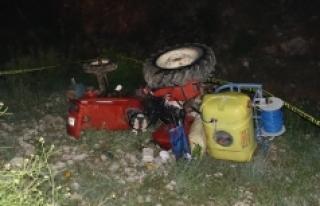 Karaman'da Traktör Dere Yatağına Yuvarlandı:...
